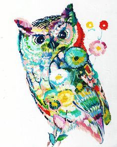 Not sure I am totally in love with this owl, but I really want a large water color owl with slightly different water color practices.