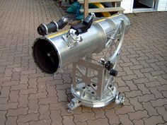 """This is an 8"""" Dobsonian Telescope made from scrap aluminum in a work shop. Very impressive! #Astronomy #Telescopes #Dobsonian"""