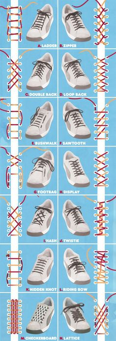 Attention all boys and girls. Anyone with a nice pair of kicks who wants to keep them CLEANER than the other guy. Guess what?!! We have some ways to hide those laces. Check this out.