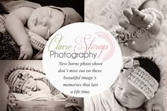 Newborns photography flyer