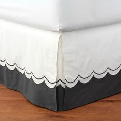 Pottery Barn Teen The Emily & Meritt Sweet Scallop Bedskirt, Twin/Twin XL, Charcoal Car Part Furniture, Automotive Furniture, Automotive Decor, Furniture Design, Teen Girl Bedding, Teen Girl Bedrooms, Guest Bedrooms, Guest Room, Canopy Bed Curtains
