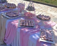 candy bar vaptisis ekrou roz pastel, candy bar βάπτισης εκρου ροζ παστελ