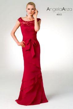 Vestido de madrina burdeos A0522