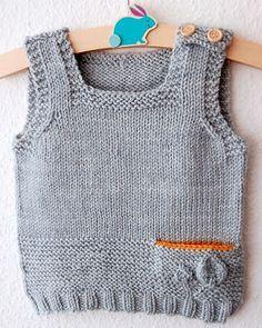 Petites Feuilles Vest pattern by Lisa Chemery – Knitting patterns, knitting designs, knitting for beginners. Knitting For Kids, Knitting For Beginners, Baby Knitting Patterns, Baby Boy Sweater, Baby Cardigan, Ravelry, Baby Hut, Pull Bebe, Knit Vest Pattern