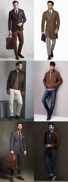 Men's How To Wear Brown Outfit Inspiration Lookbook
