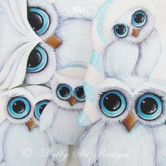 Shabby Art Boutique White Christmas 2013 owls