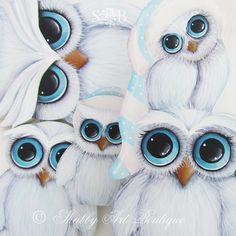 Shabby Art Boutique White Christmas 2013 owls