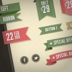 30+ Ribbon PSD Files Every Designer Should Download