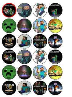 photo about Printable Minecraft Cupcake Toppers titled Absolutely free Printable Minecraft Cupcake Toppers Minecraft