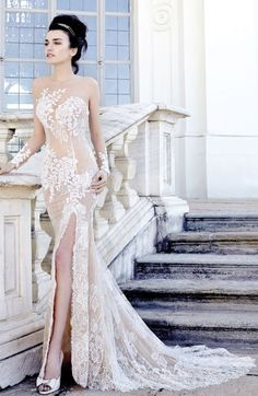 Wedding dress idea; Featured Dress: Stefano Blandaleone