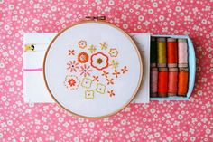 Ribbon Embroidery Ideas Pretty embroidery patterns give your house a floral touch . but you don't have to water these flowers! - These 10 hand embroidery patterns are perfect for those who love gardening or who want to bring the garden indoors! Floral Embroidery Patterns, Embroidery Flowers Pattern, Hand Embroidery Tutorial, Silk Ribbon Embroidery, Hand Embroidery Designs, Flower Patterns, Cross Stitch Embroidery, Embroidery Sampler, Cross Stitch Kits