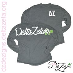 Cutest Coastal Jersey around!! Gray Delta Zeta jersey with an adorable turtle on the back!! Now at DZ DeZigns!!