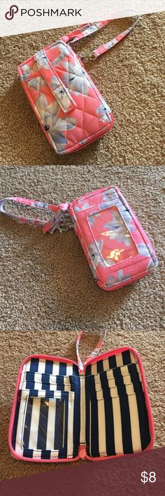 Vera Bradley Wristlet Wallet 🌸 Gorgeous Floral, Wristlet wallet. Used a couple times but in EXCELLENT CONDITION. No stains, tares, or rips and Zippers work great. Like brand new! Vera Bradley Bags Clutches & Wristlets