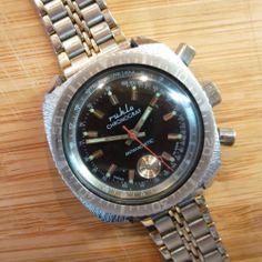 Ruhla Chronograph Herrenuhr Mechanisch Handaufzug Armbanduhr Uhr Taucheruhr DDR | eBay