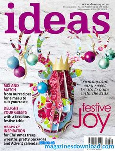 Get your digital subscription/issue of Ideas-December 2013 Magazine on Magzter and enjoy reading the magazine on iPad, iPhone, Android devices and the web. Magazine Crafts, Ideas Magazine, December 2013, Crochet Basics, Easy Projects, Creative Inspiration, Christmas Bulbs, Merry Christmas, Sweet Treats