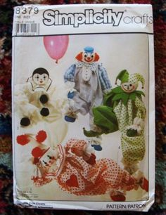 SALE Vintage 80s Clown Stuffed Doll Toy Craft Pattern by umustcit, $2.50