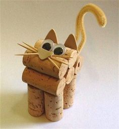 Cork Crafts Letters - Clay Crafts For Kids Nature - Popsicle Stick Crafts For Teens Girls Kids Crafts, Crafts For Teens To Make, Cat Crafts, Food Crafts, Wine Craft, Wine Cork Crafts, Wine Bottle Crafts, Crafts With Corks, Wine Bottles