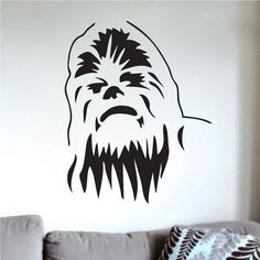 Chewbacca Wall Decal Decor _ Star Wars Wall Decal Murals_ Trendywalldesigns