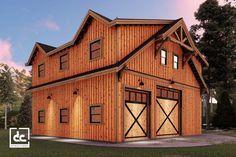 The Shasta RV Barn Kit - RV Garage With Living Quarters Wood Garage Kits, Rv Garage Plans, Pallet Shed Plans, Pole Barn Plans, Garage Loft, Garage Apartment Plans, Barn Garage, Pallet Barn, Garage Ideas