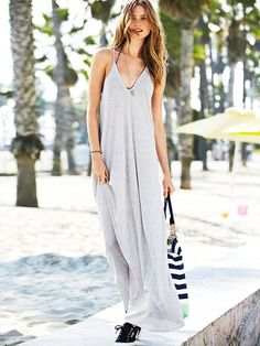 Supermodel Essentials Ribbed V-neck Maxi Dress #VictoriasSecret cm_mmc=pinterest-_-product-_-x-_-x