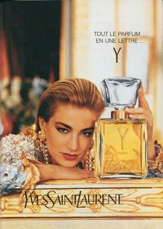 ad has to be from the Y parfume by YSL is impossible to find now.it is a classic vintage YSL fragrance and is beautiful! Saint Laurent Perfume, Yves Saint Laurent Y, Vintage Ysl, Vintage Perfume, Vintage Beauty, Anuncio Perfume, Michaela Bercu, Elaine Irwin, Perfume Adverts