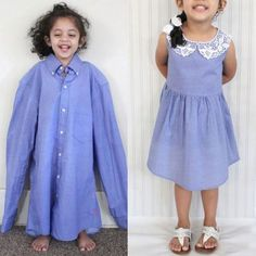 "<p>Retrouvez le tutoriel par <a href=""http://www.craftsy.com/pattern/sewing/clothing/diy-adult-shirt-to-lined-toddler-dress-/180514"" target=""_blank"">ici </a></p>"