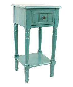 Loving this Turquoise Blue Simplify One-Drawer Accent Table on #zulily! #zulilyfinds