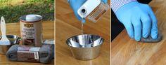 Hvordan pusse opp spisebordet? - Fornyelse av gamle møbler - ifi.no Cotton Candy, Dog Bowls, Kitchen Appliances, Diy Kitchen Appliances, Home Appliances, Kitchen Gadgets, Floss Sugar