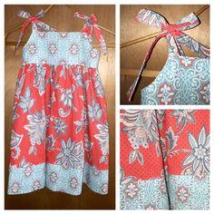 Cotton Boho Sundress, girls size 6 by SewMeems on Etsy
