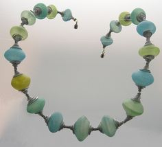 hollow beads, made with Pardo Professional art clay translucent tinted with decorating chalks