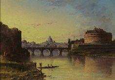 John Linton Chapman (American, 1839-1905) Bridge over the Tiber.