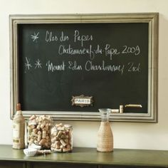 Rectangular Magnetic Chalkboard {could I make this will a sheet of galvanized metal and chalkboard paint?} $200 is insane!