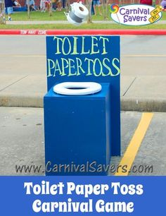 Toilet Paper Toss Carnival Game - DIY Game - fun for school carnivals and fundraising carnivals too!