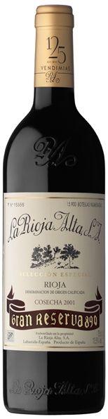 Gran Reserva 890-2001 Mejor Rioja Gran Reserva y Medalla de Oro