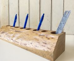 Looking for modern, but rustic organization for your office space?  Check out our live edge desk caddy organizer!