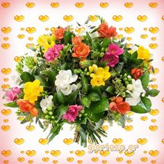 Flowers gif giortazo Flowers Gif, Floral Wreath, Wreaths, Rose, Beautiful, Decor, Flowers, Floral Crown, Pink
