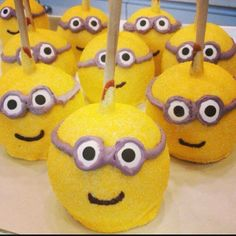 Assemble the #MINIONS ! ! ! ! ! ! !  #caramelapples for ANY Occasions  #teamminions