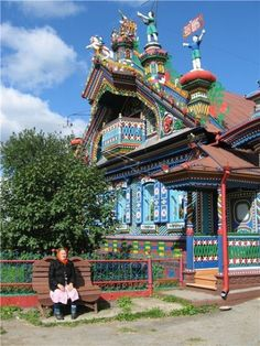 Russian home, one of the most elaborately decorated buildings I've come across.  Nevyansk, Sverdlovsk Region