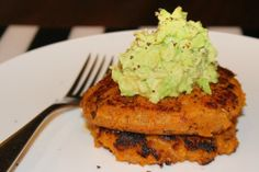 Sweet Potato & Fish Cakes with Smashed Avocado