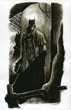 Batman- Rockin the 19th century Sherlock look in the back alleys beaten on serial killers bitch