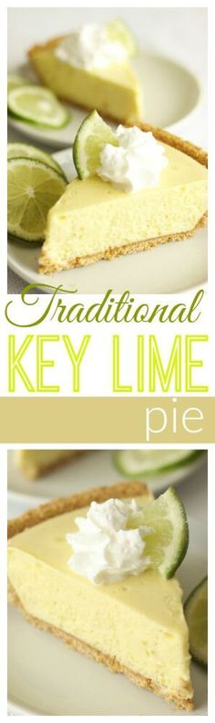 This Key Lime Pie recipe comes straight from Savannah, Georgia and it is THE best! Try it with whipped topping or a meringue topping. via @favfamilyrecipz (easy pie recipes healthy)