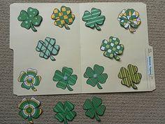 shamrock pattern matching file folder game for St. Patrick's Day