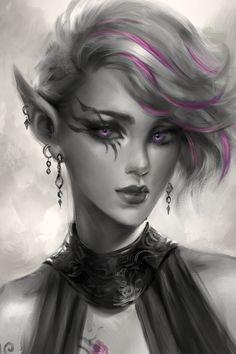 Elf Warrior, Fantasy Warrior, Fantasy Girl, Warrior Angel, Dark Fantasy, Elf Characters, Dungeons And Dragons Characters, Fantasy Characters, Fantasy Character Design