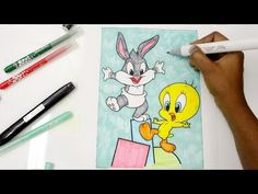 Coloring Baby Looney Toons, Tweety and Bugs Bunny, Coloring Tweety and Bugs for kids - YouTube