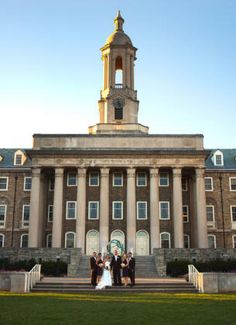 Penn State Old Main wedding photo - William Ames Photography