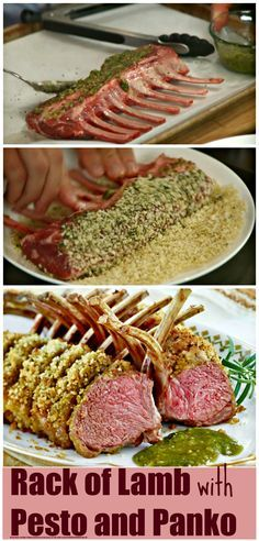 Rack of Lamb with Pesto and Panko, a classic with a twist. http://www.ifood.tv/recipe/rack-of-lab-with-pesto