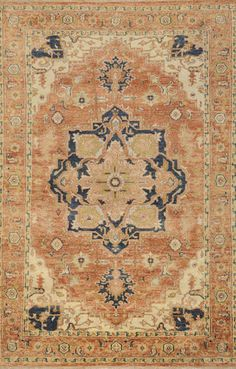 Zeus ZEU-7805 Rust Beige Peach by Surya Carpet, Inc.