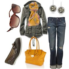 Sav; I could see you wearing this, except the purse and glasses. And your red toms. Hair With Flair, Straight Cut Jeans, Girl Closet, Weekend Wear, Jeans Fit, Pants Outfit, Boat Shoes, Red Toms, Alaska Cruise