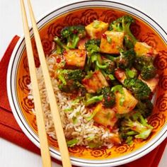 Chipotle peppers add kick to this tofu and broccoli stir-fry recipe.