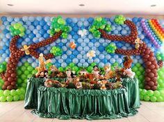 Mural de balotilde;es safari  /  jardim  /  floresta